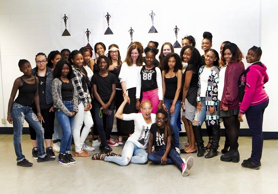 The Walk Camp girls with Editor in Chief of Elle Canada Magazine Noreen Flanagan