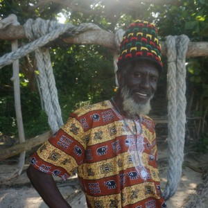Cliff the talented Rastaman on Winifred Beach